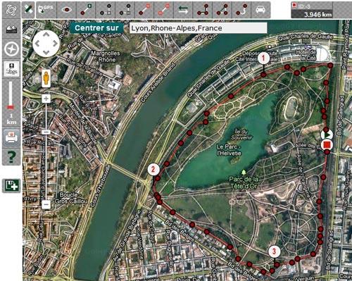 Et voilà, le tour du Parc de la Tête d'Or à Lyon mesuré