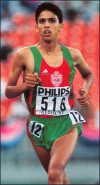 Mondiaux junior à Séoul 1992, El Guerrouj est 3e derrière Kirui et Gebrselassie