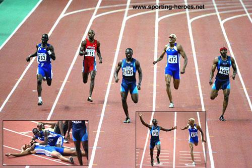 Marc Raquil auteur d'un incroyable retour dans la dernière ligne droite du 400m