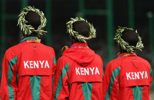 Podium 100% kenyan à Athènes 2004. Kemboi, Kipruto, Koech