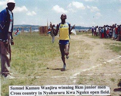 Samuel Wanjiru a 12 ans lors de ce cross-country de 8km couru à Nyahururu