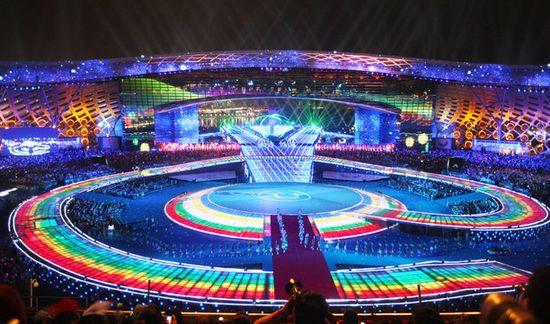 La cérémonie d'ouverture des Universiades de 2011 à Shenzhen (Chine)