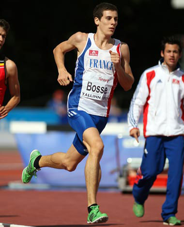 Pierre Ambroise Bosse, champion d'Europe junior du 800m en 2011.