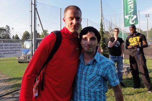 Rencontre avec Christian à Lausanne l'an passé. Merci pour toutes ces années d'émotions !