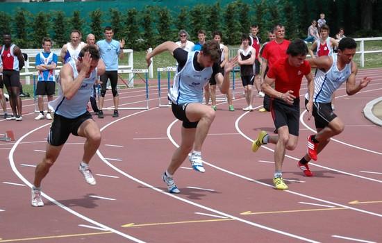 Christophe Lemaitre à Aix-les-Bains pour sa rentrée 2012 sur 100m / ©CultureAthle