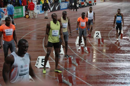 Usain Bolt est un habitué du meeting de Lausanne, ici en 2009