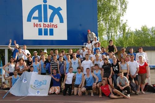 Les interclubs, un moment convivial pour tous les clubs, ici l'AS Aix-les-Bains